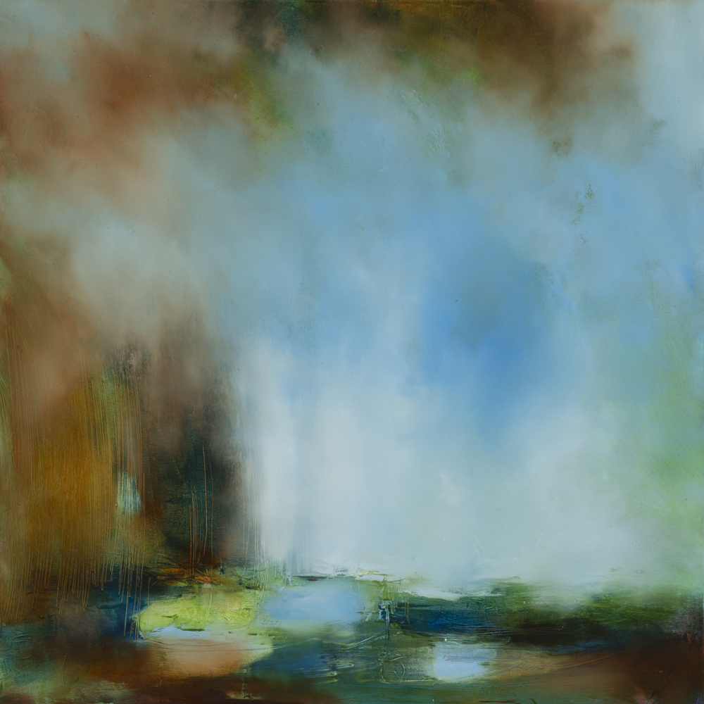 Laura Rich, Track in the treeline, oil on canvas, 80 x 80cms.jpg