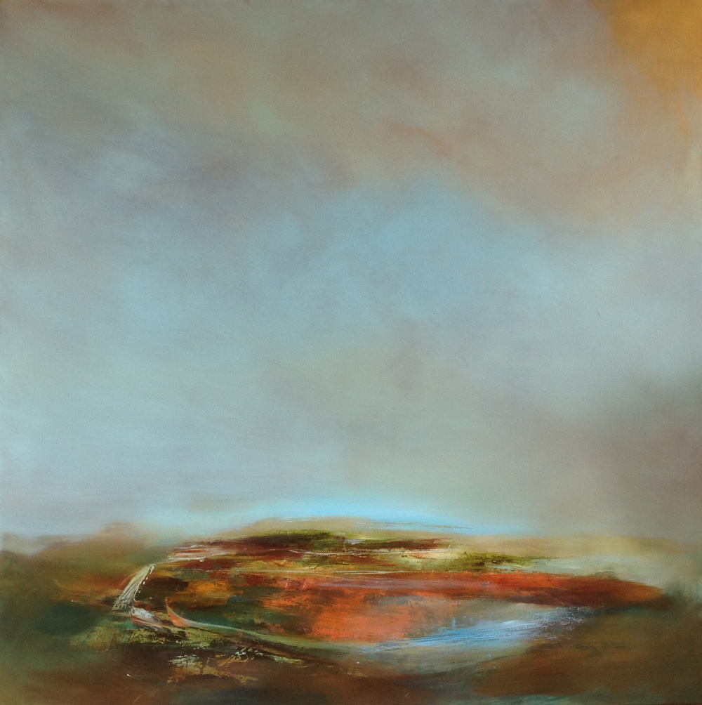 Laura Rich, Starting to warm up a bit, oil on linen, 100 x 100cms.jpg