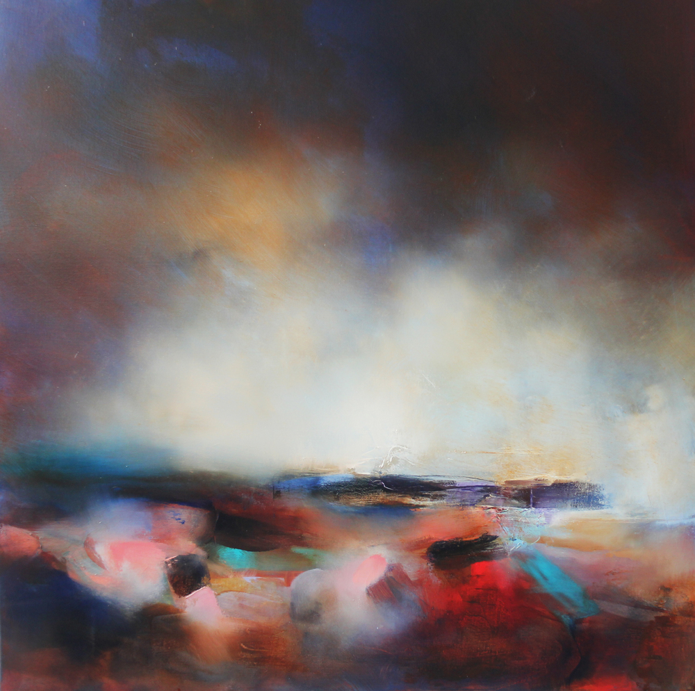 Laura Rich, Red Soil, Purple Heathers, oil on linen, 90 x 90cms (1).jpg