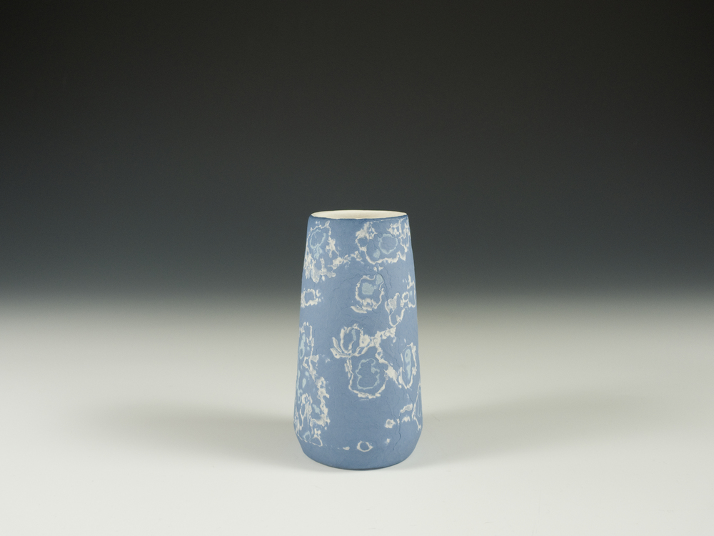 Conical vase - blue - image 2.jpg