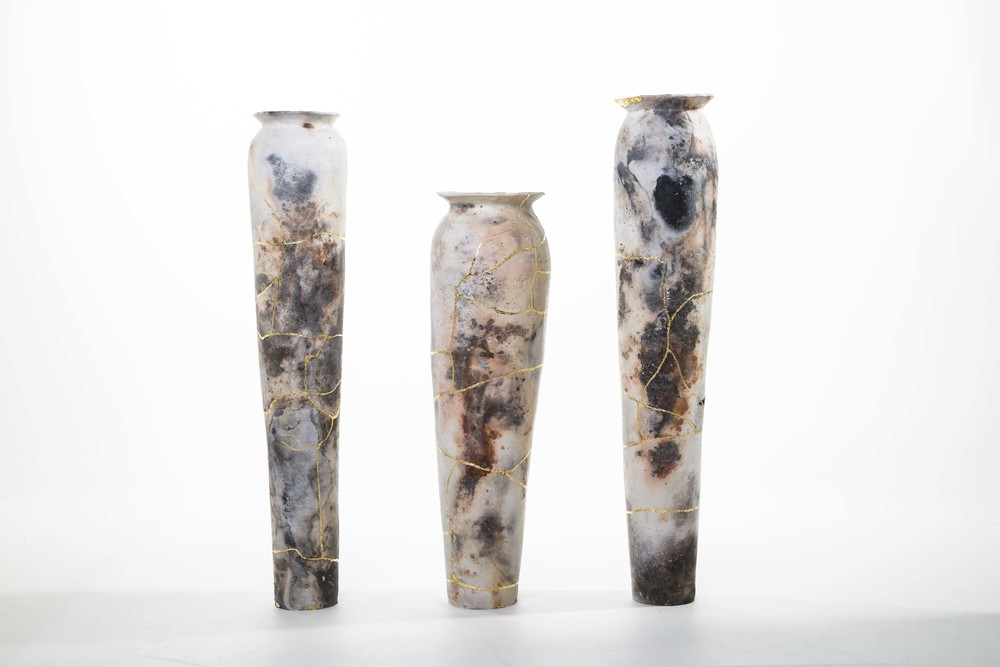 3 RJ Pit Fired Ceramics with 23.5ct Gold Leaf, People Pots (Chap,Gent, Fella).jpg