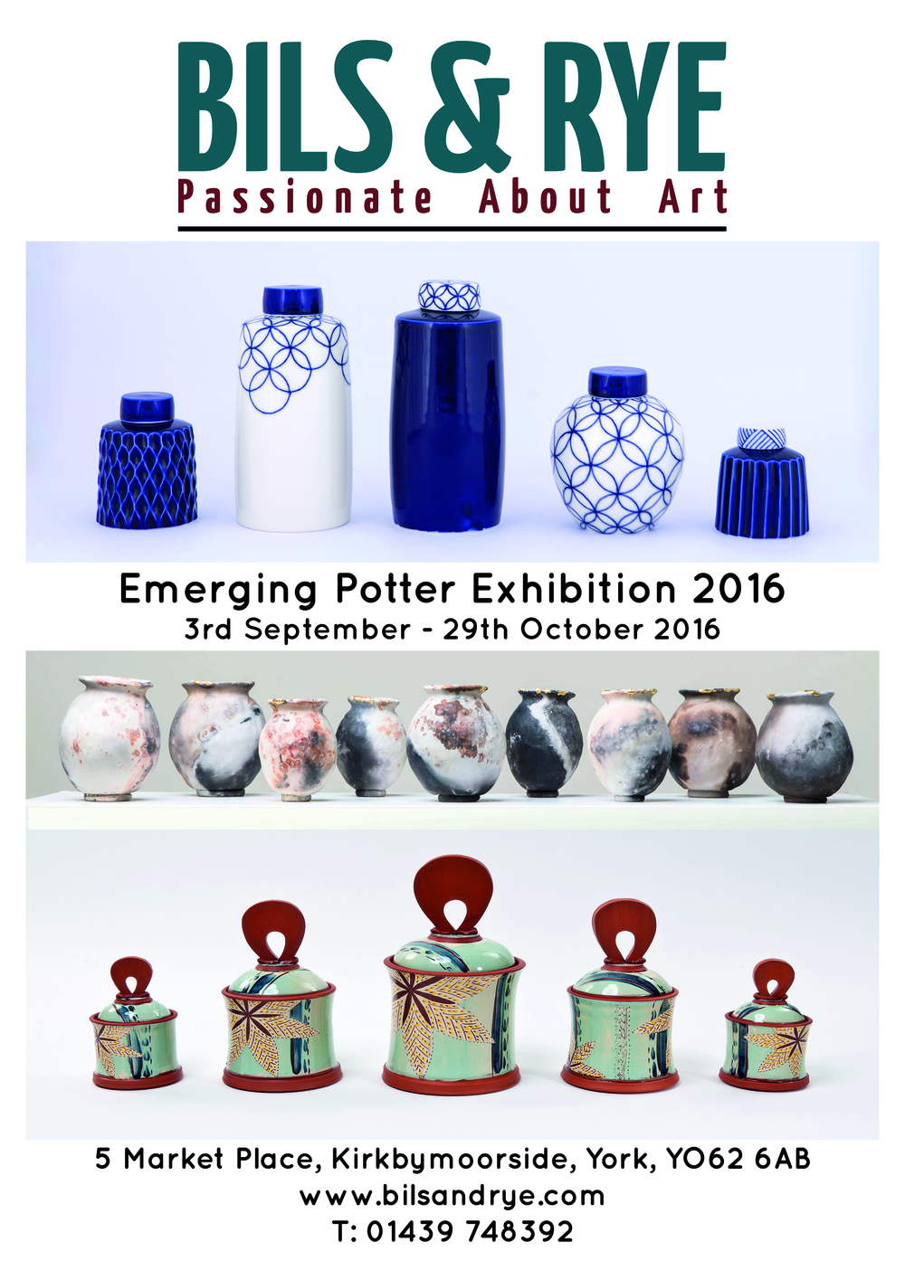 We kick off with the Emerging Potters Exhibition