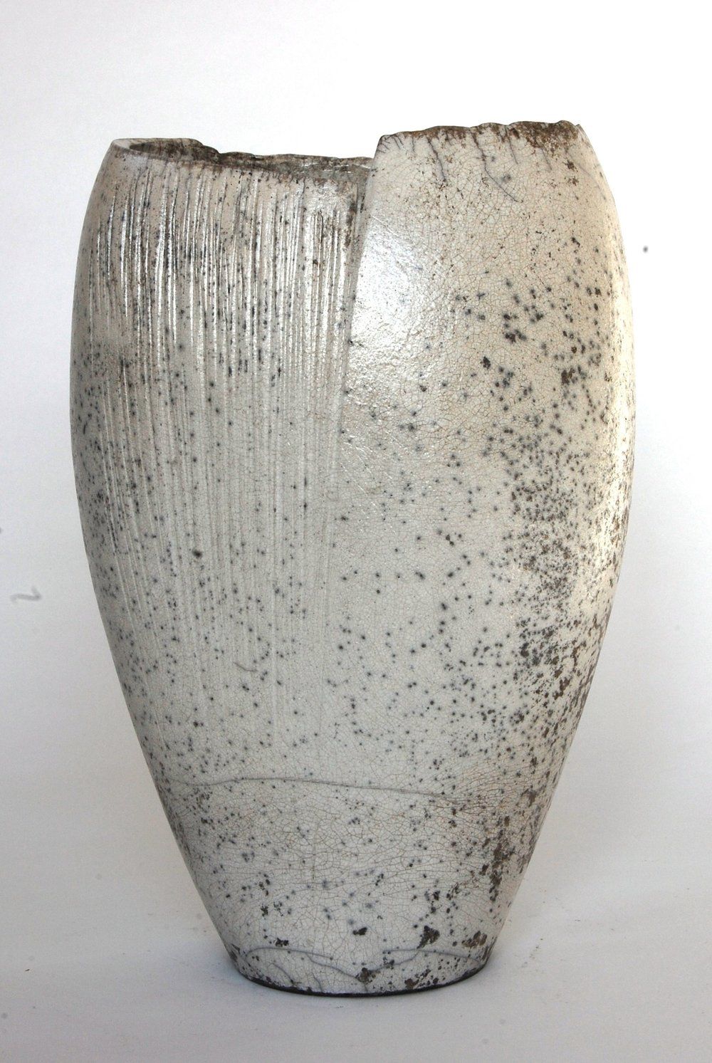 White Textured Vessel - SOLD