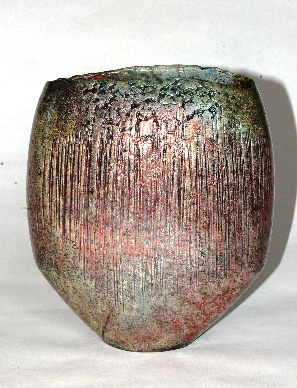 Pink Textured Vessel Ht 19cm..JPG