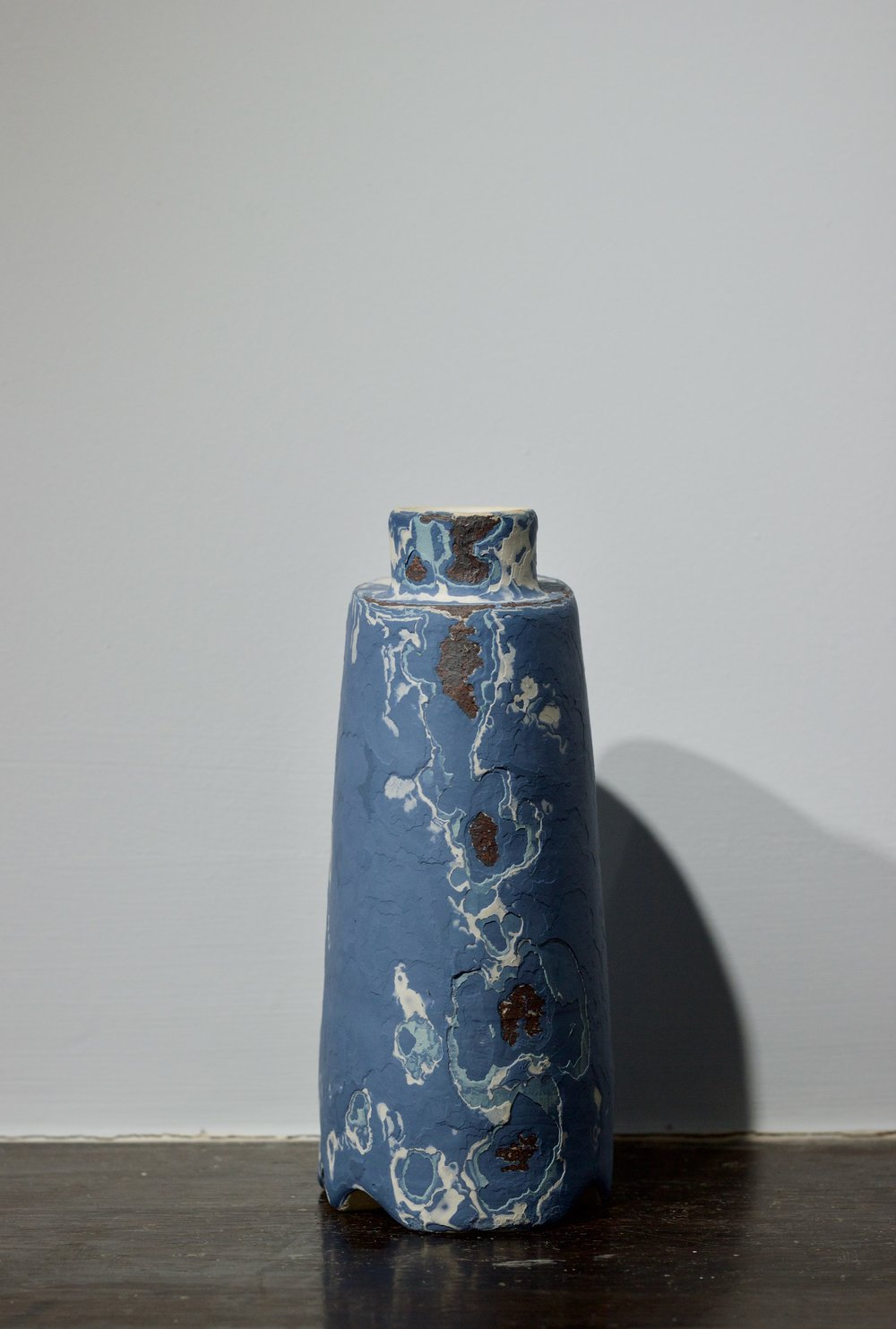 James Faulkner - Small Blue Bottle Vase