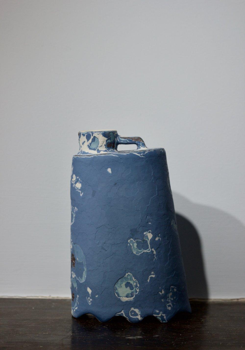 James Faulkner - Small Blue Bottle Vase