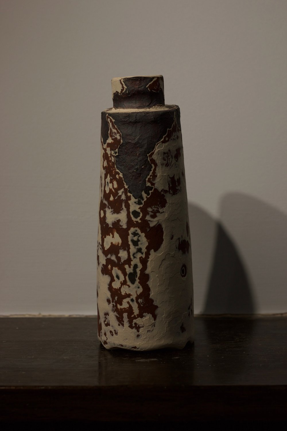James Faulkner - White Bottle Vase