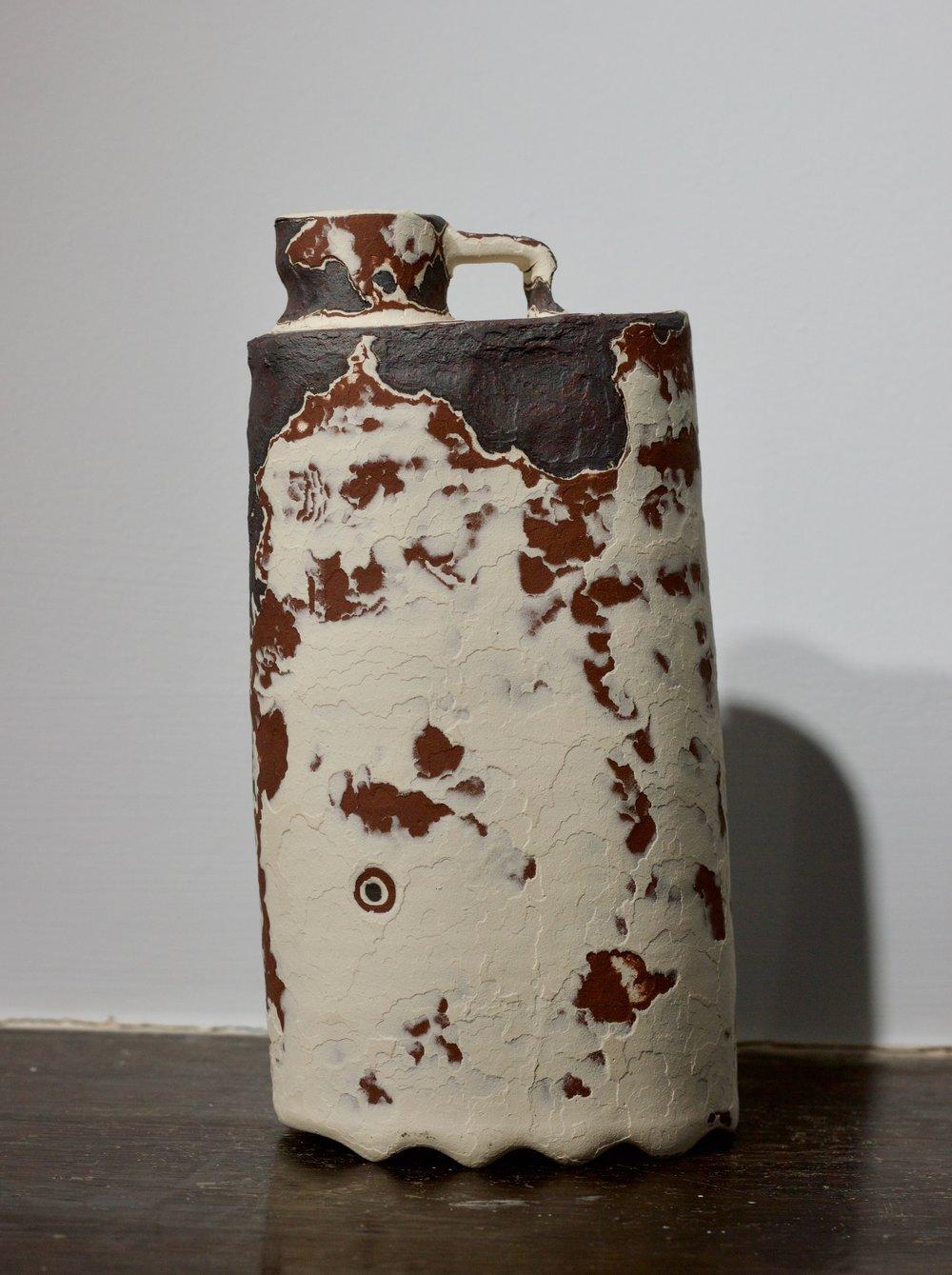 James Faulkner - White Bottle Vase