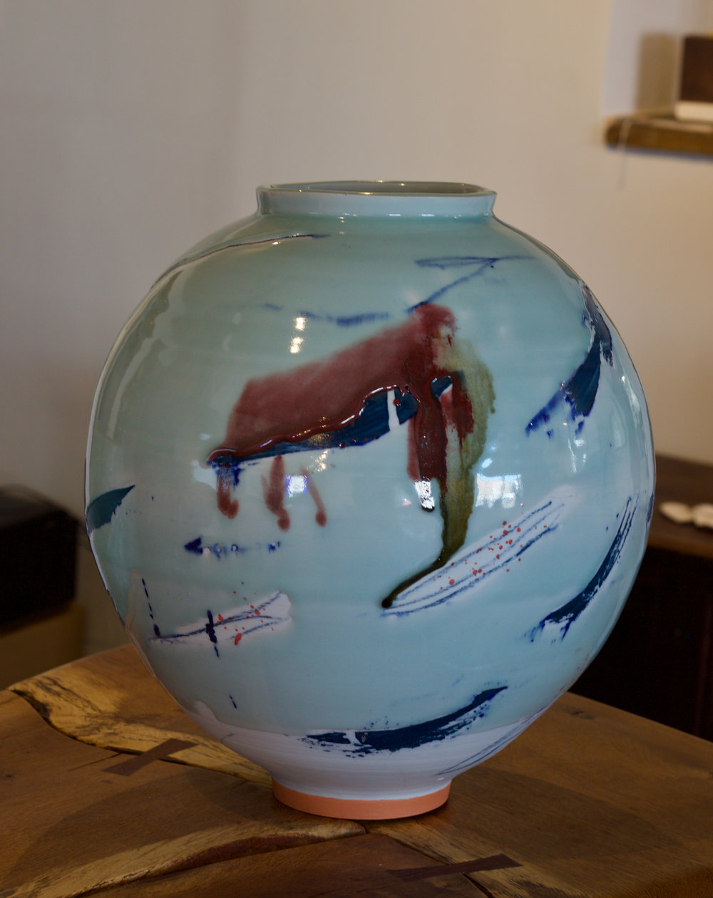 Adam Frew - Porcelain Moon Jar - 37cm by 34cm - £900.00