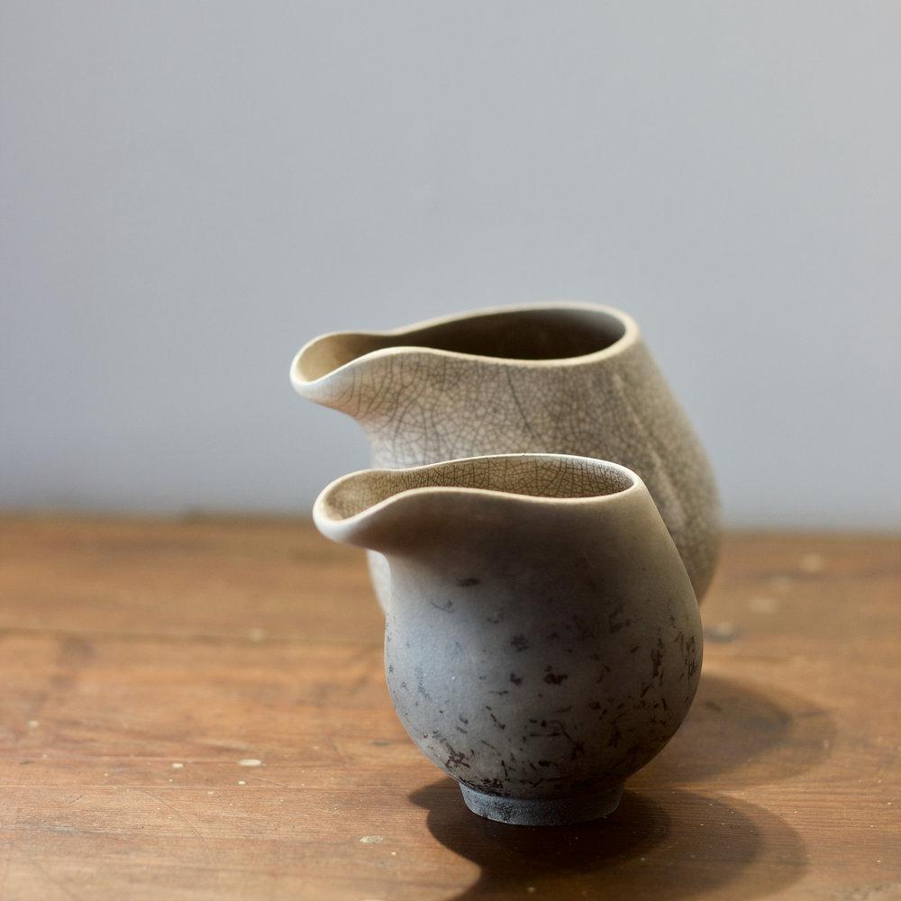 Kate Schuricht - Raku Jugs - 9cm - £225.00