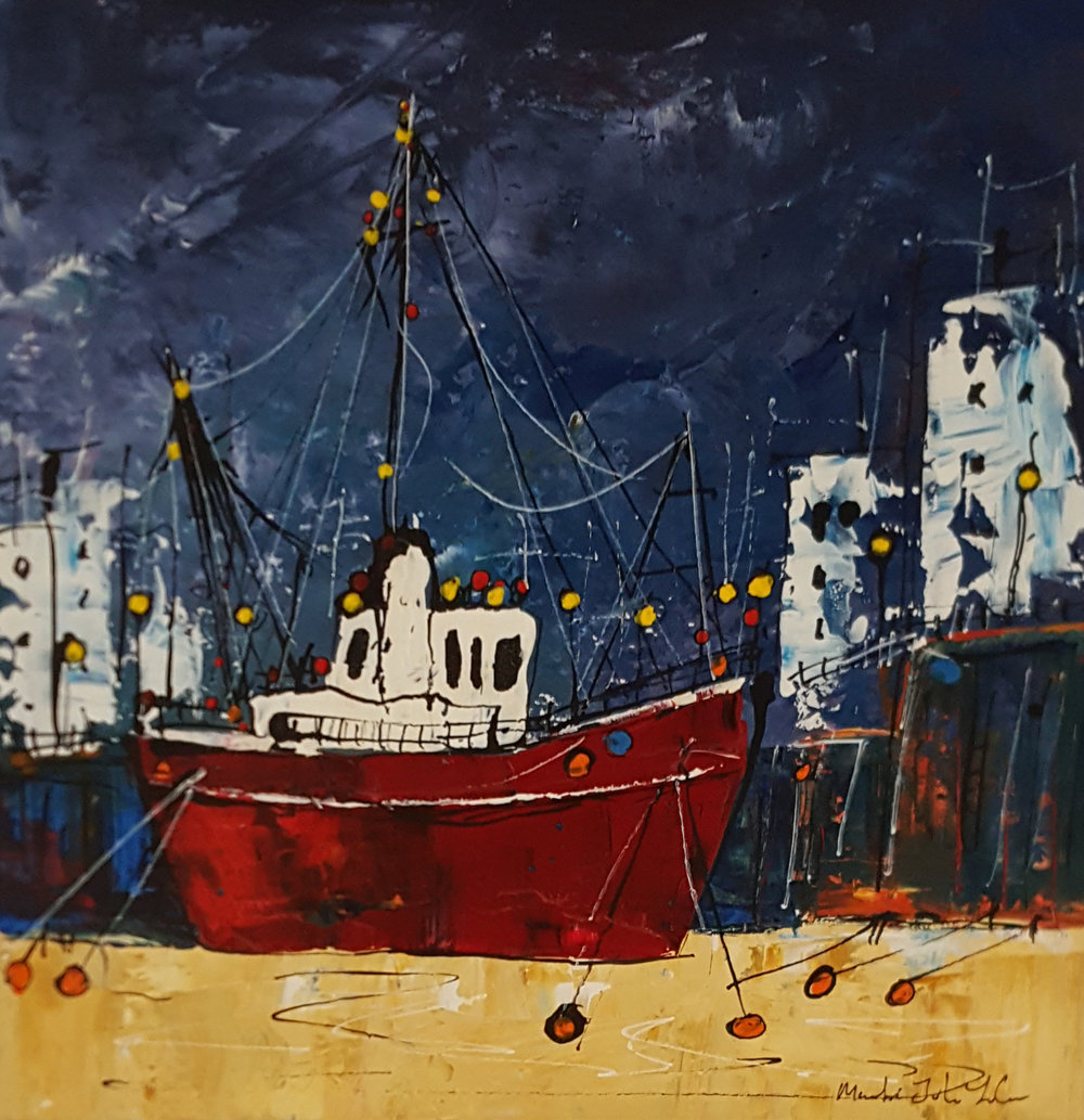 Waiting For The Morning Tide - SOLD