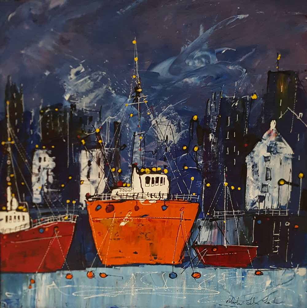 Winter Evening, High Tide - SOLD