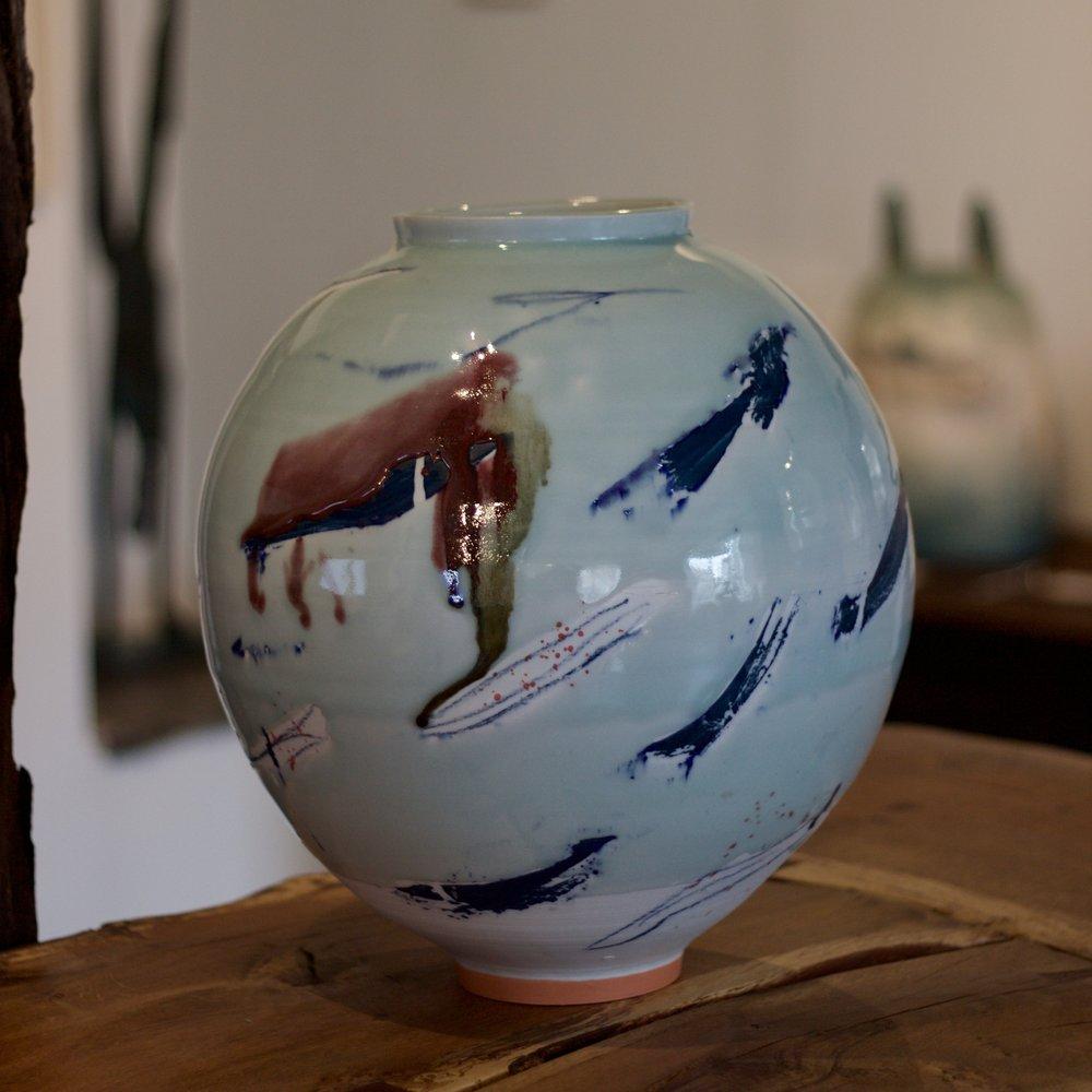 Large Porcelain Moon Jar - £900.00