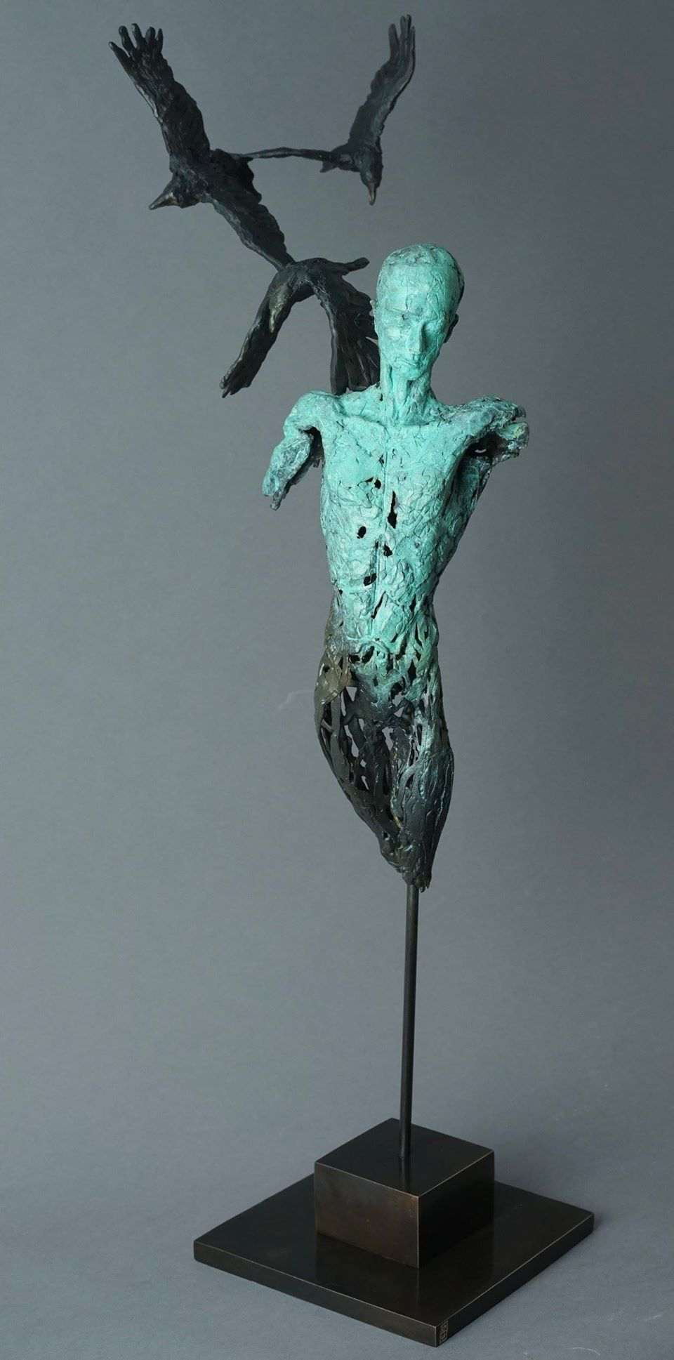 The Raven King - Edition 1 of 1 Bronze Patinated Sculpture