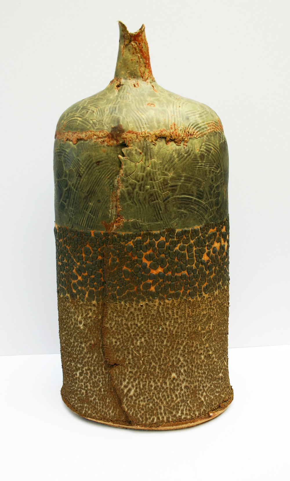 02 saltmarsh bottle with combed porcelain overlay 54x26cm.jpg