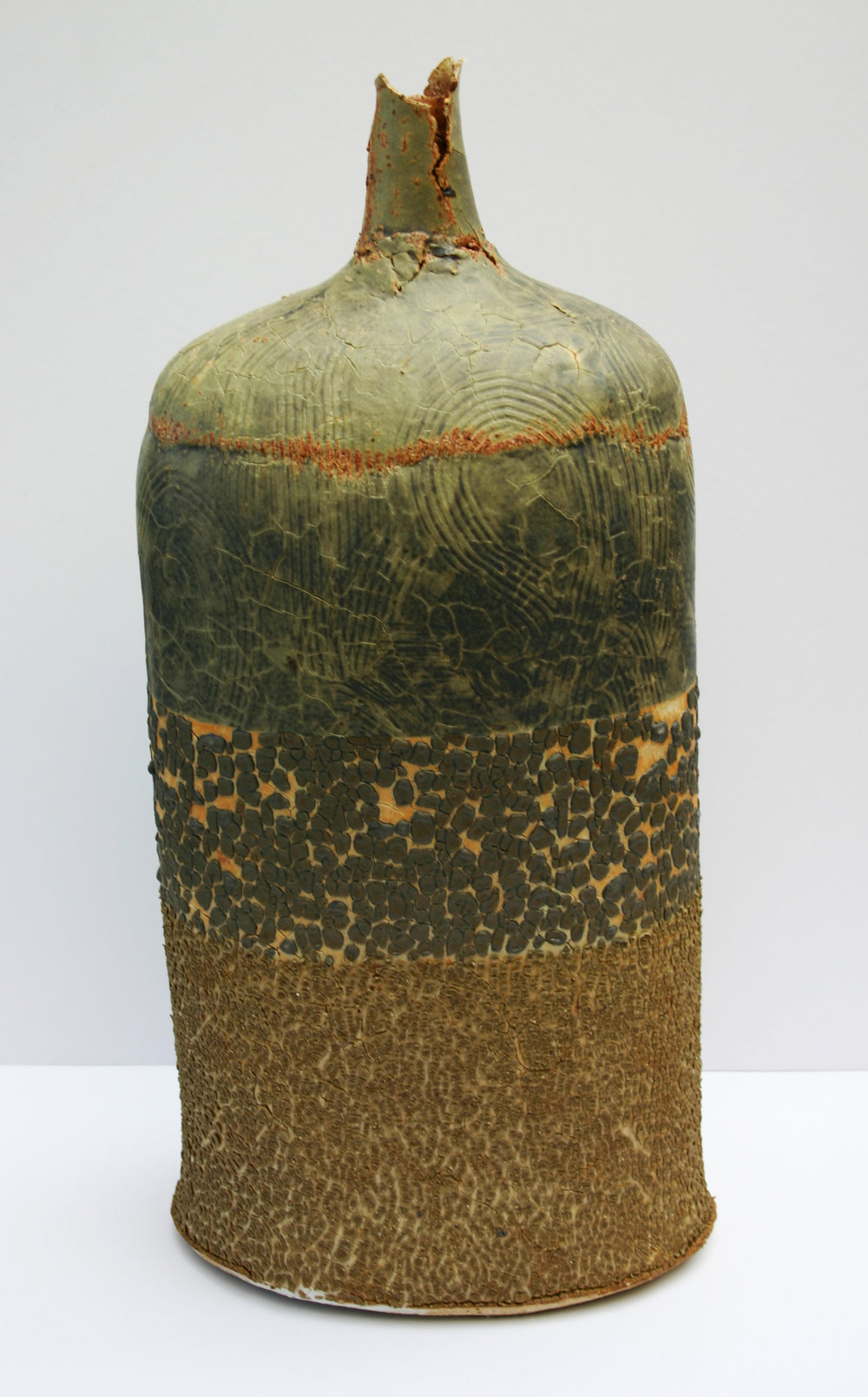 02  saltmarsh bottle with combed porcelain overlay 54 x 26cm back.jpg