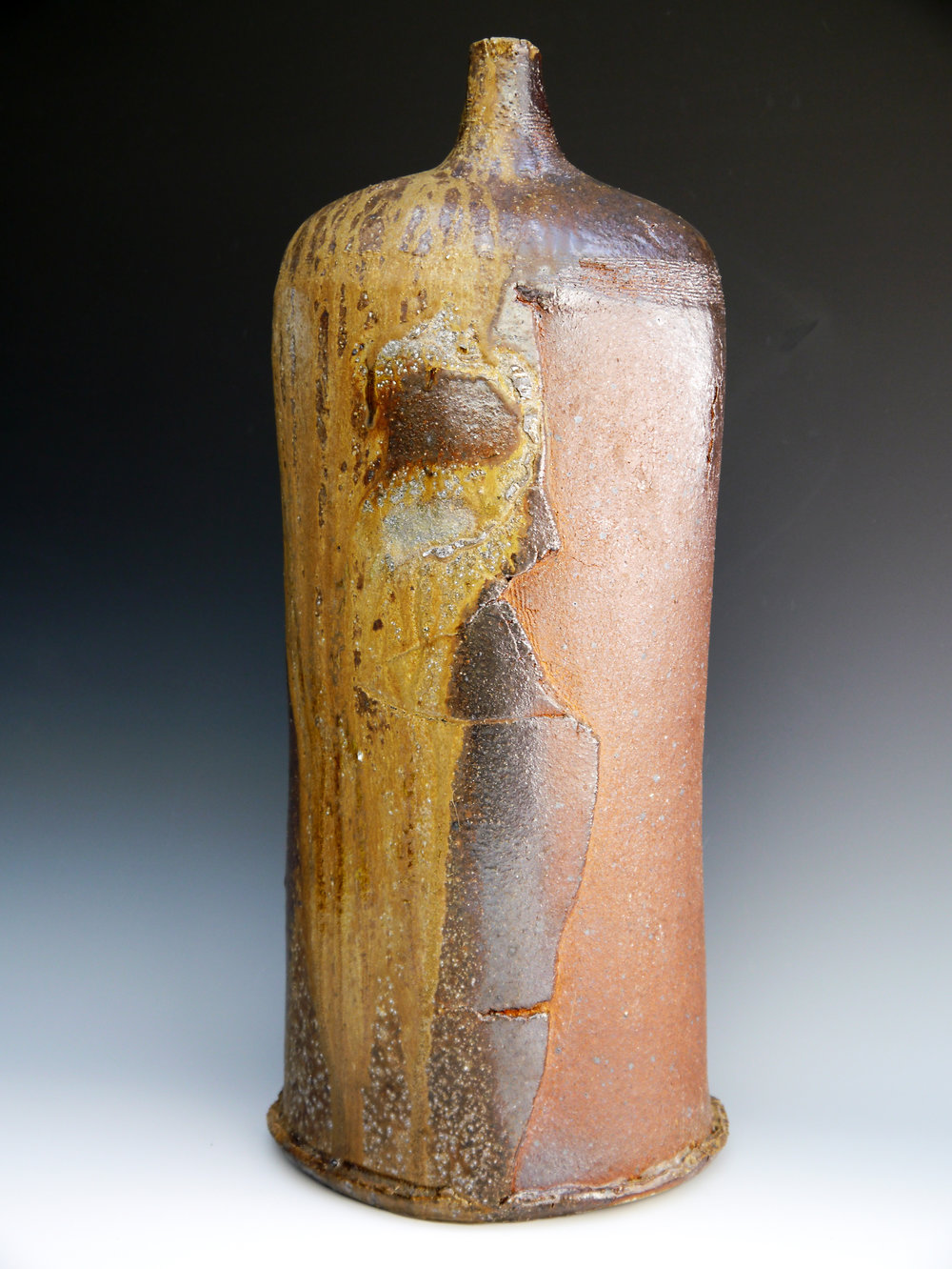 07 August 2014 4 day woodfired large bottle with shell marks 52 x 24.jpg