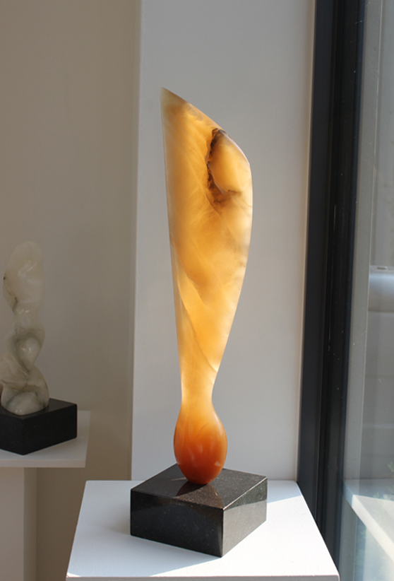 Sycamore Seed - Agata Alabaster Sculpture