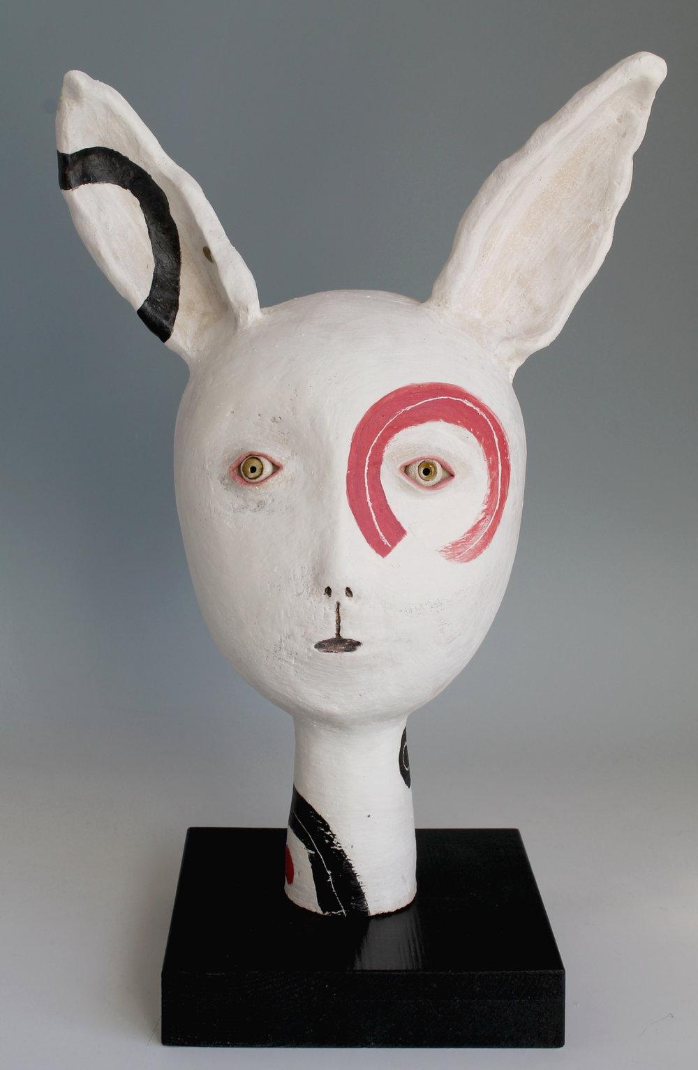 Rabbit with En-So - Ceramic Sculpture