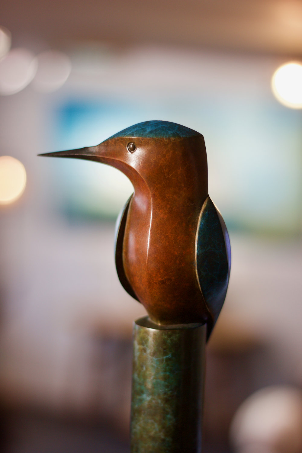 Kingfisher - Bronze Sculpture - 4 of 12