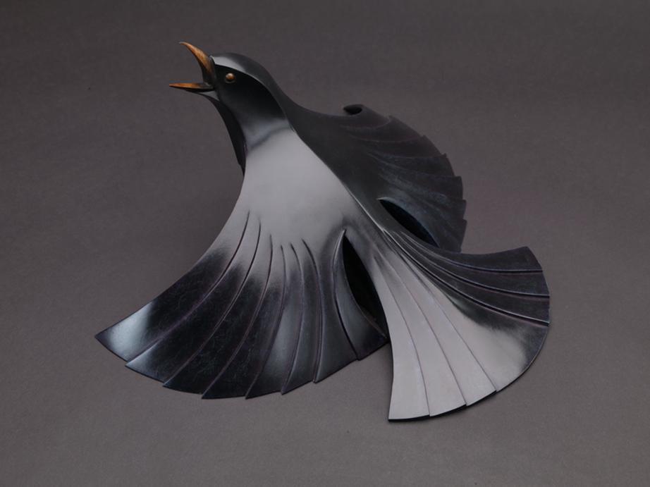 Male Blackbird - Bronze - 4 of 15