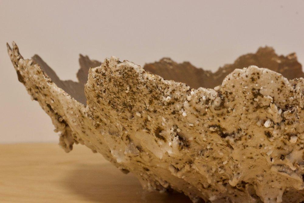 Shap Pink Granite Bronze Leaf Geode £345