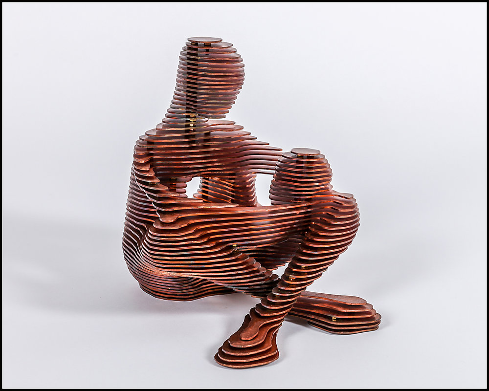 2015 Two III 20cm x 30cm x 30cm mild steel; copper plate.jpg