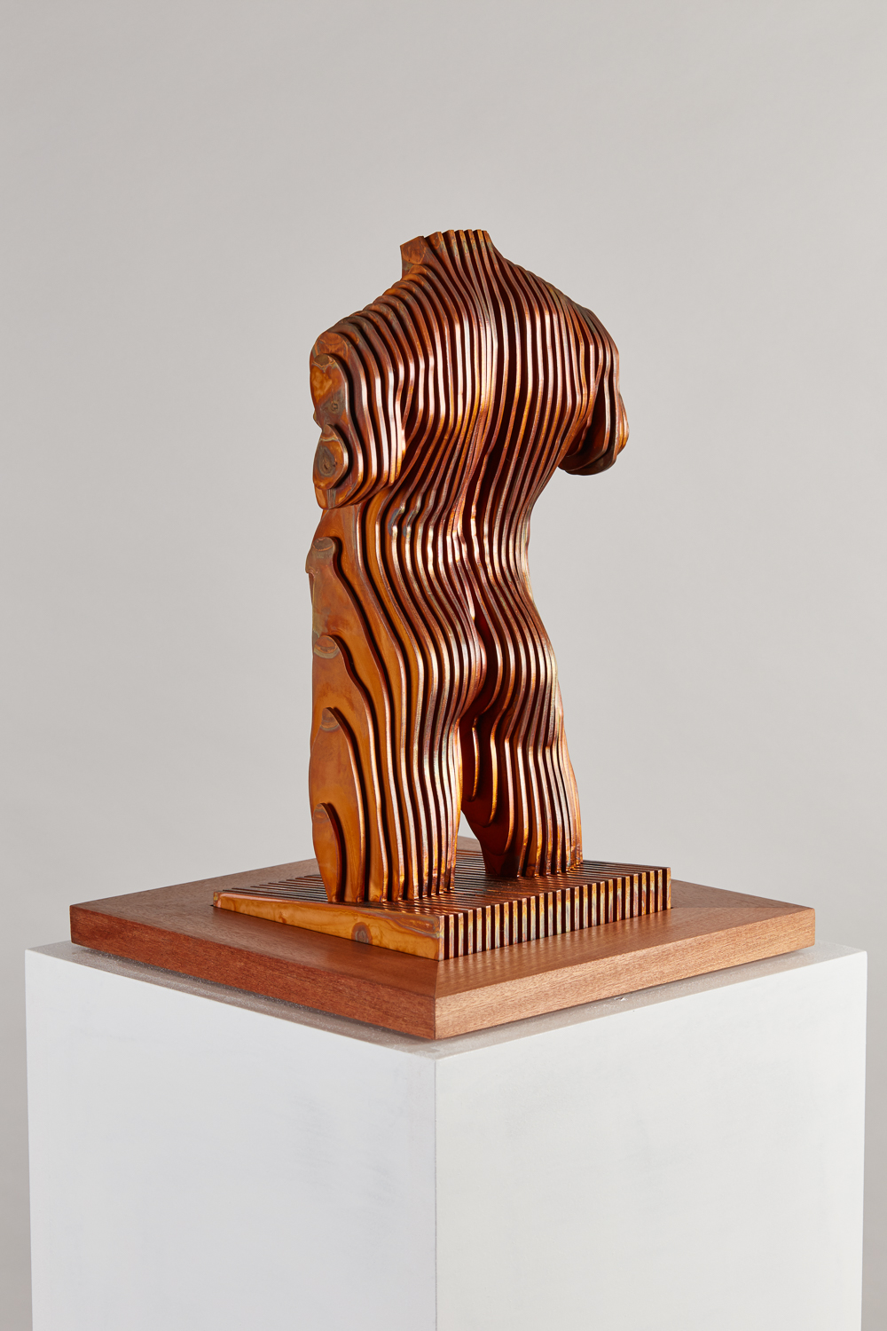 2016 Male Torso 35cm x 16cm x 16cm Corten steel with copper plate.jpg