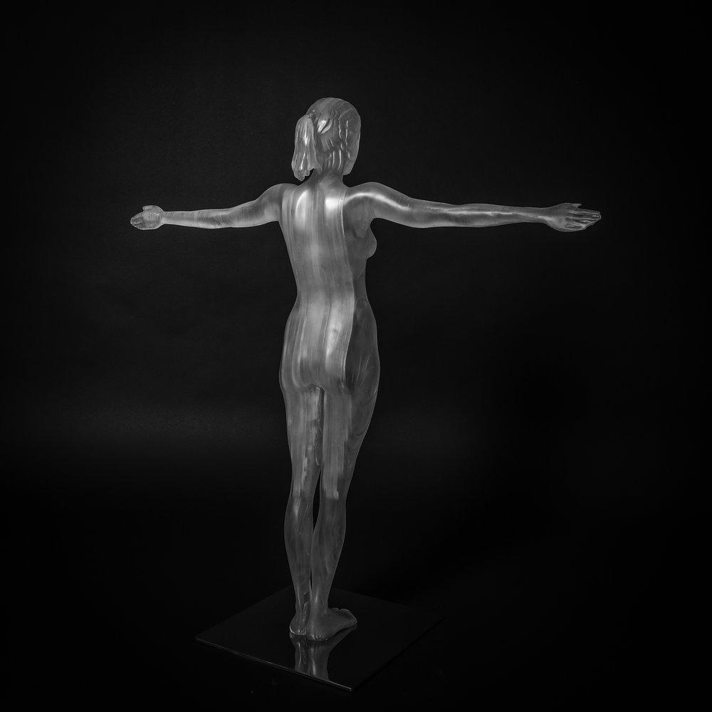 2017 Vitruvian Woman. 82cm x 76cm x 10cm extruded acrylic on stainless steel base (2).jpg