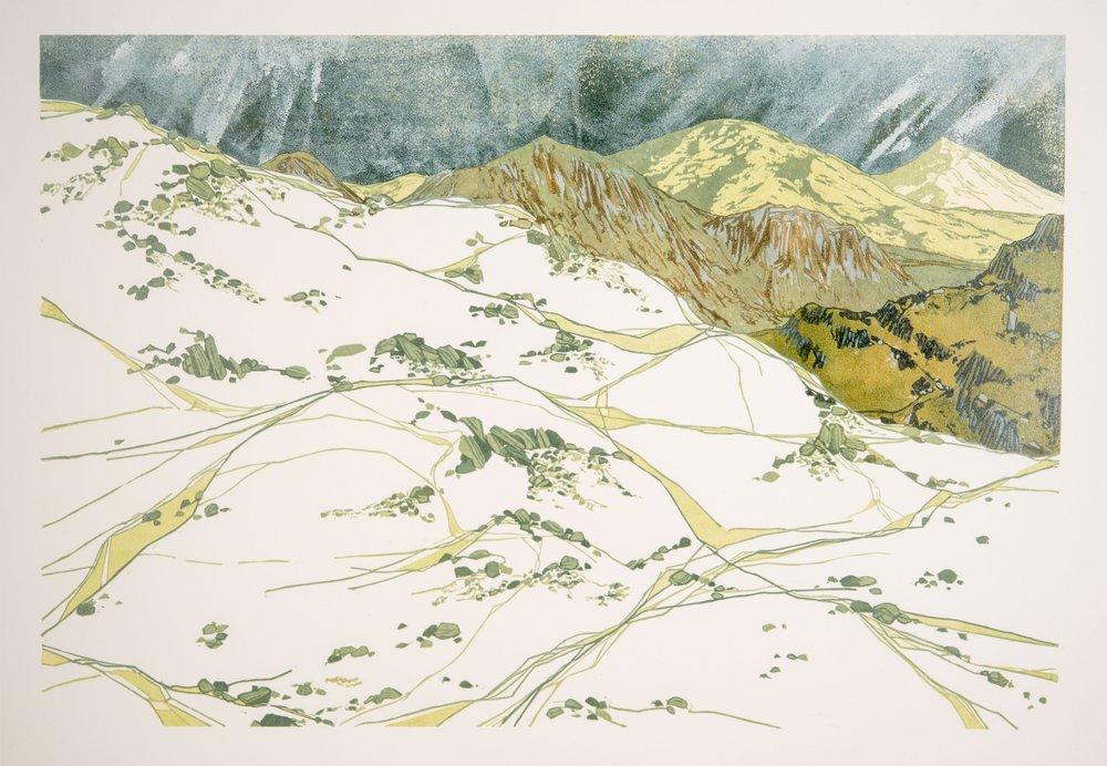 Sheep Tracks, Winter Sky - SOLD
