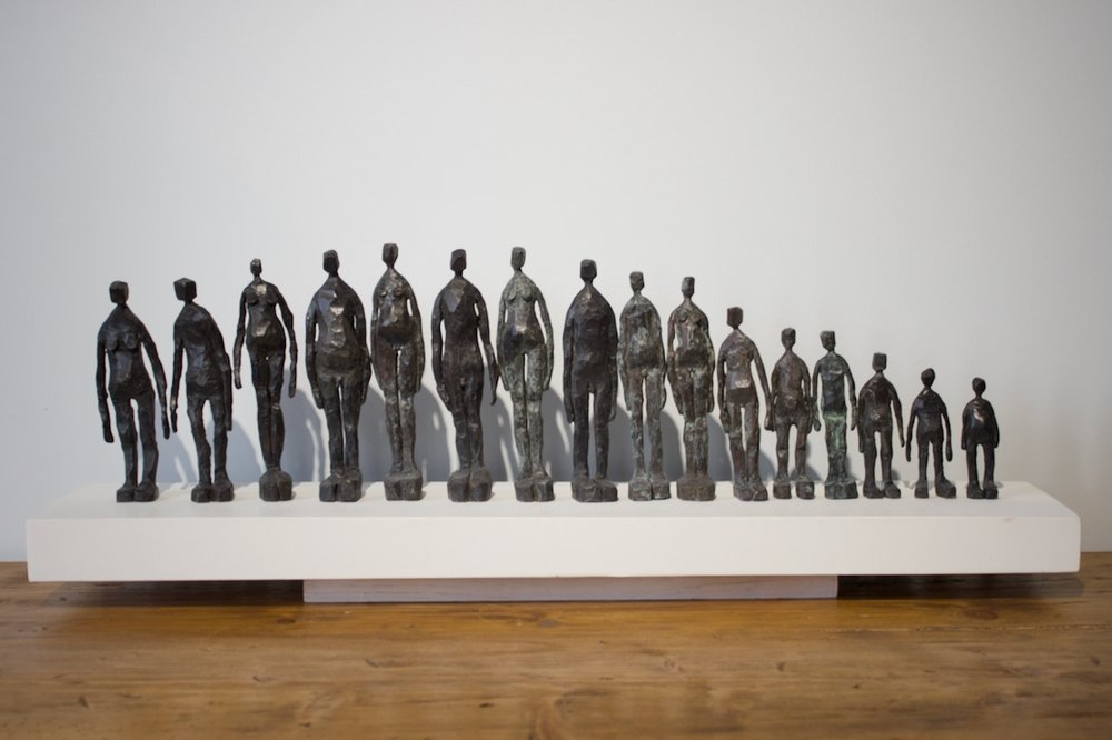TIMELINE - BRONZE SCULPTURES ON CONCRETE BASEEDITION: 1 OF 5£3,325