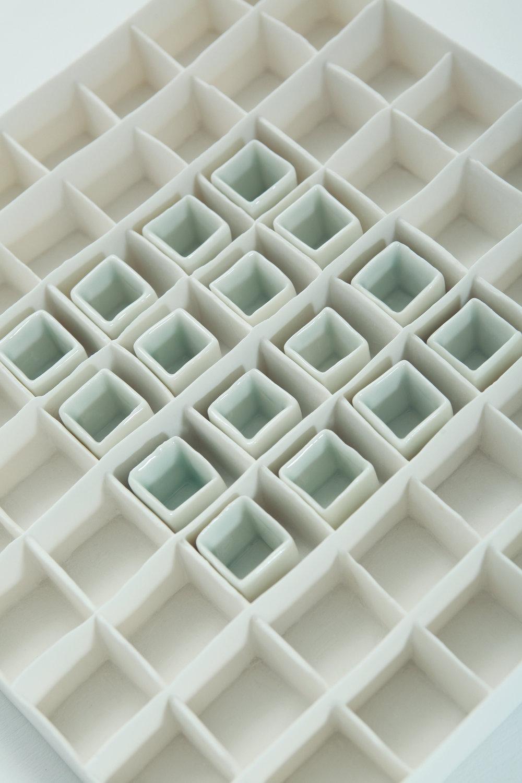 Porcelain Grid With Celadon Blue Glaze Isobel Egan Image 2.jpg
