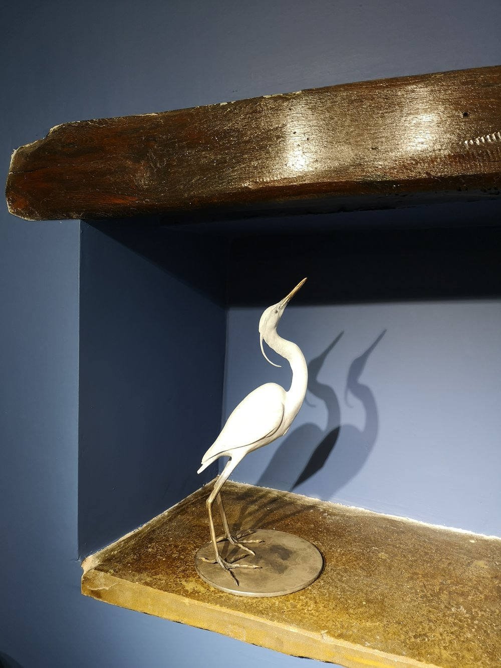 Scott Shore recently joined the gallery with his amazing bronze sculpture of a Snowy Egret. Absolutely stunning has been said many a time by visitors!