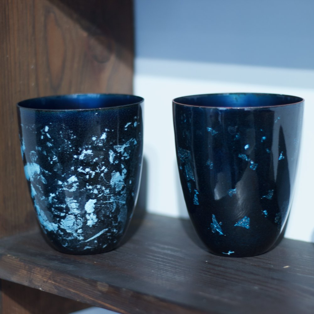 Glazzard Lundsten - Enamelled Copper Cups