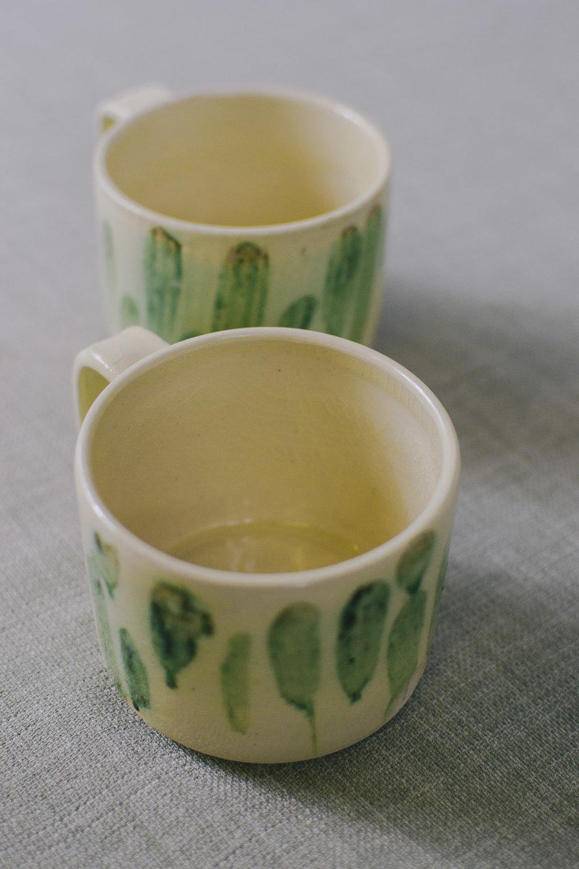 Celadon and Ash mugs on a White Stoneware.jpg