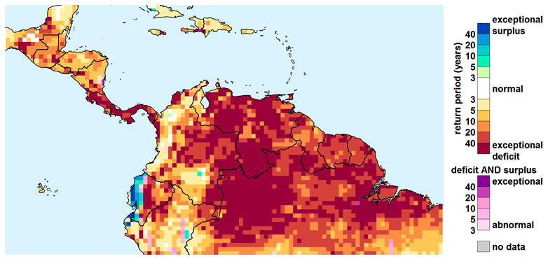 WSIM Composite Water Anomaly Index for Nov 2015 through Jan 2016