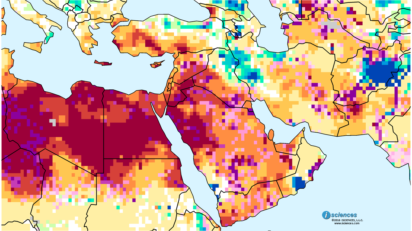 Middle East Map Arabian Peninsula.Middle East Water Deficits Forecast For The Arabian Peninsula And