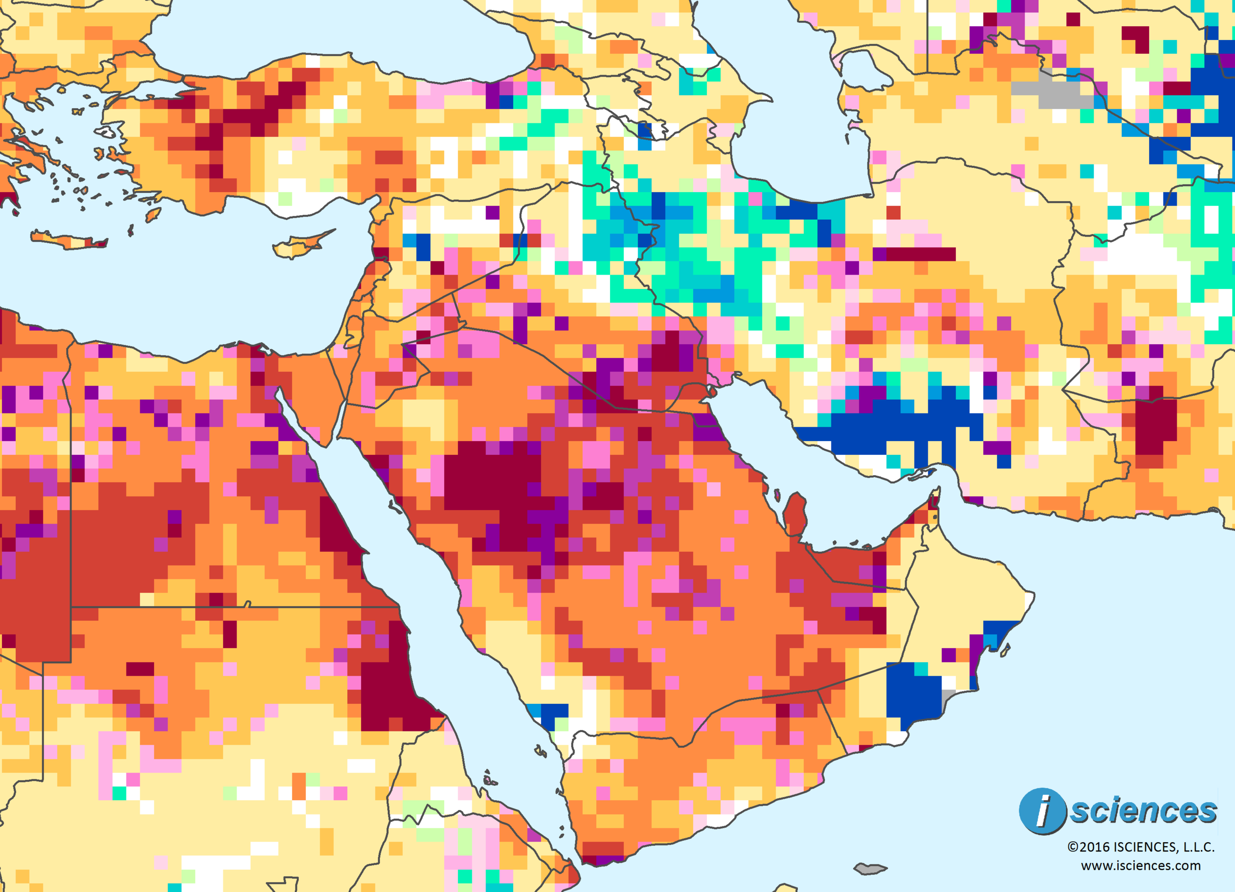 Middle East Widespread water deficits ahead Saudi Arabia Qatar