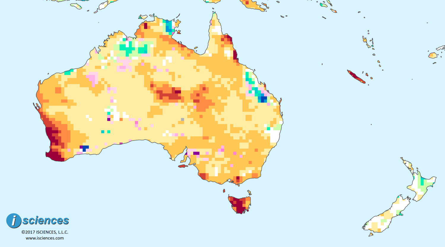 Southwest Australia Map.Australia New Zealand Water Deficits To Persist In Southwest Wa