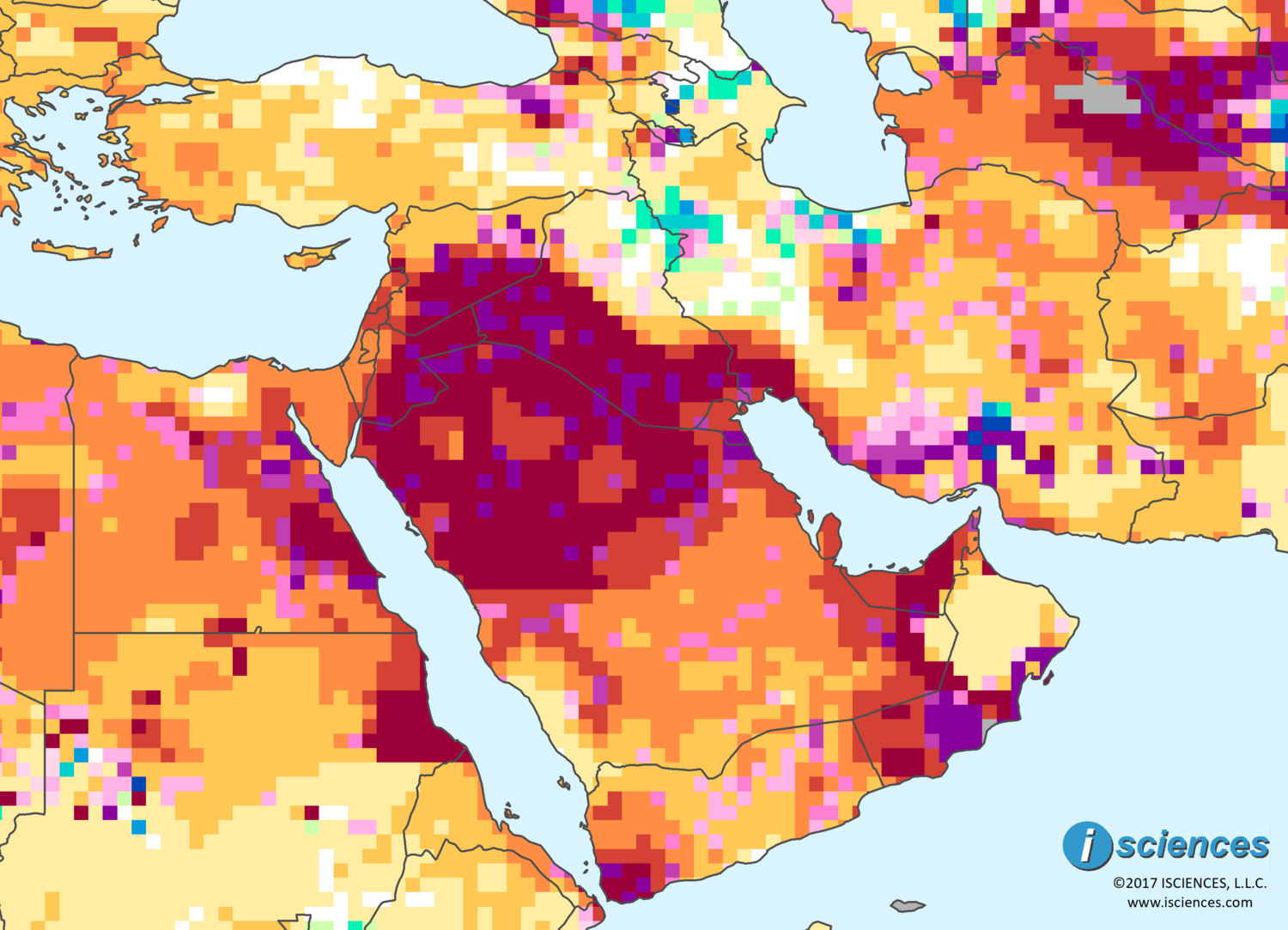 Middle East Map Arabian Peninsula.Middle East Water Deficits On The Arabian Peninsula Will Moderate