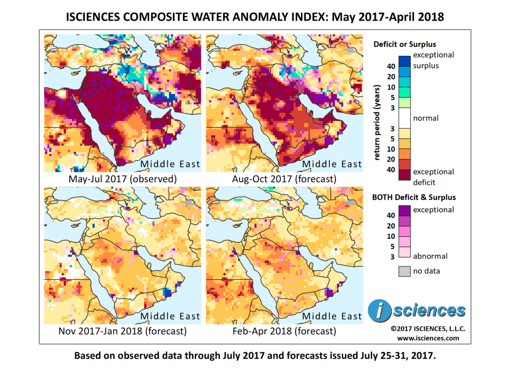 Middle East Water deficits on the Arabian Peninsula will moderate