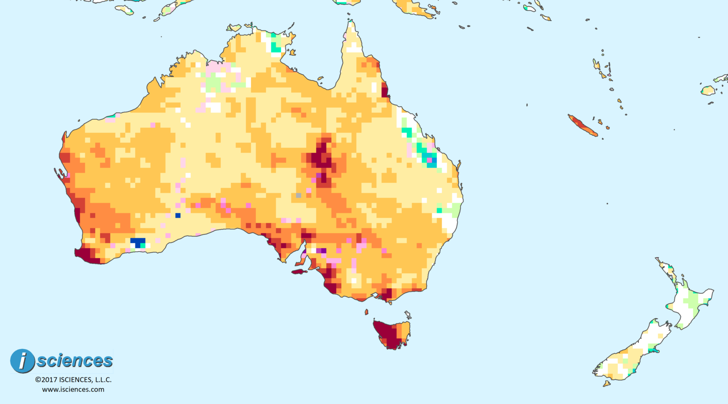 Map Of Australia Tasmania And New Zealand.Australia New Zealand Water Deficits To Persist In Wa Tasmania