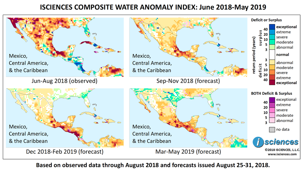 Mexico, Central America, & the Caribbean: Intense water deficits ...