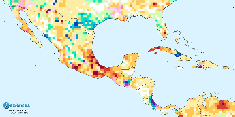 Mexico, Central America, & the Caribbean: Water surpluses forecast on oaxaca mexico map, zacatecas satellite map, puerto escondido mexico map, tijuana mexico map, guerrero mexico map, chihuahua mexico map, michoacan mexico map, tamaulipas map, nochistlan zacatecas map, malinalco mexico map, acapulco mexico map, san luis potosí mexico map, zacatecas state map, cancun mexico map, morelia mexico map, guadalajara mexico map, jalpa zacatecas map, puebla mexico map, mazatlan mexico map, jalisco mexico map,