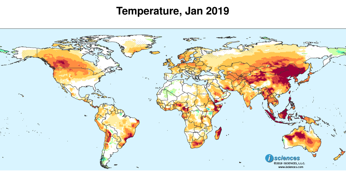 Global Precipitation & Temperature Outlook January 2019 — ISCIENCES