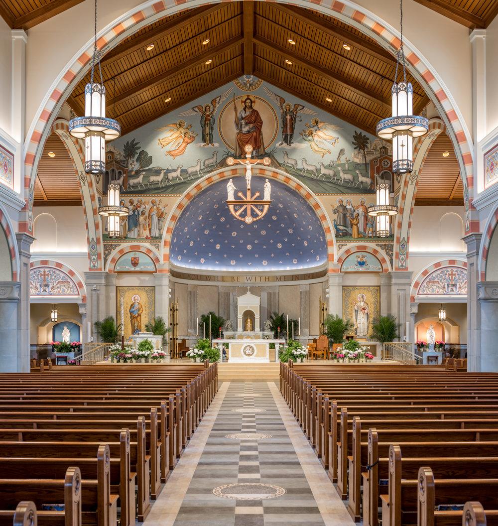 St Pius X Church  Interior Granger