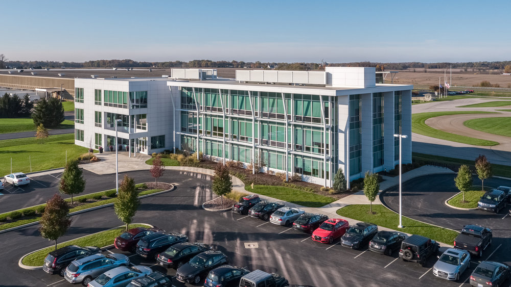 Tire Rack Office Anex Drone Photo