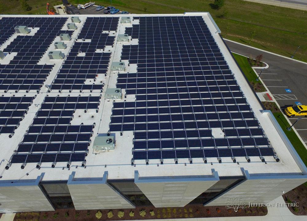 Furrion Office & Innovation Center Elkhart Indiana Solar Panels