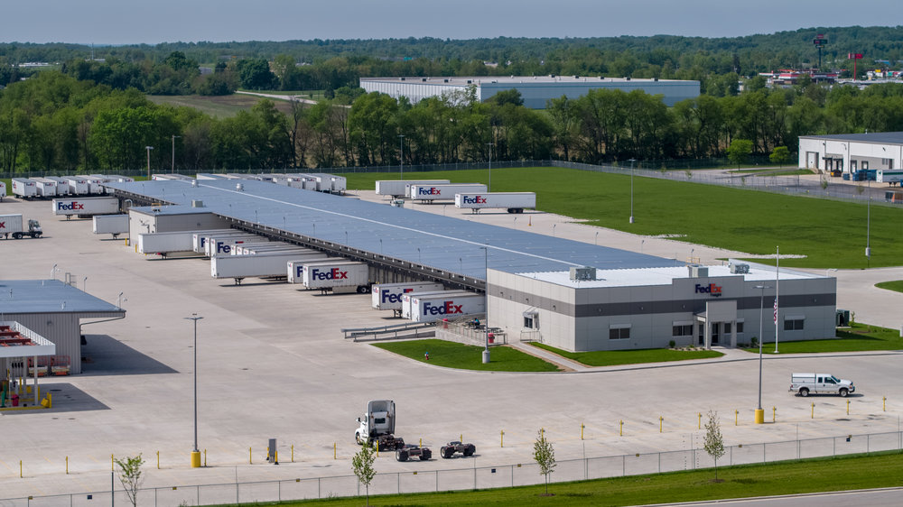 FedEx Freight Distribution Center  South Bend Indiana