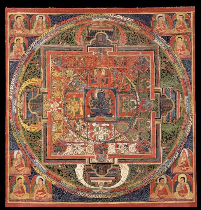 Mandala of Guhyasamaja, Akshobhyavajra, Tibet; 14th century - from the Rubin Museum of Art